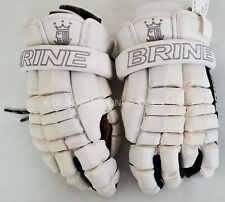 "New Brine Deft White Sz: Medium 12"" Lacrosse Gloves"