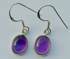 Amethyst Earrings 925 Sterling Silver 8x10mm Nickel Free and Hypoallergenic