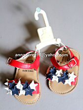 75% OFF! AUTH BABYGAP GIRL'S STARS SANDALS SHOES 18-24 mos BNEW $24.95