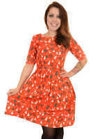 Ladies 50s 60s Run & Fly Red Christmas Holiday Dress