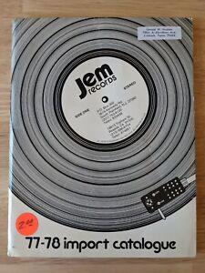 1977-78 JEM Records Import Catalogue - Music Albums Rock Reggae Etc. Catalog