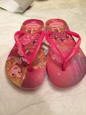 NWT Havianas Brasil Beauty And The Beast  Sandals Youth Girl's Size 2Y