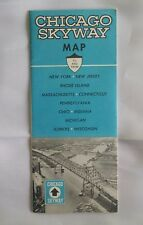 1964 Chicago Skyway Map to & from NY, NJ, RI, Mass, Conn, Penn, Ohio & more