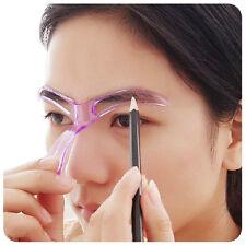 2Pcs Model Tarjeta De Dibujo Plantilla Para Cejas Maquillaje Cejas Plantilla