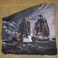 RARE VINTAGE 1987 New Orleans Historic Nautical theme Slate Art