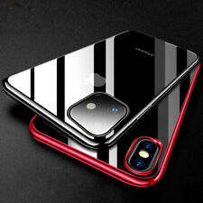 Luxury Crystal Plating Clear Silicone Case Cover For iPhone 11 Pro Max XS XR 8 7