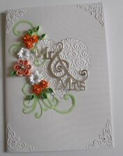 Personalised Handmade Mr & Mrs Wedding /Anniversary/Birthday Card Quilled flower