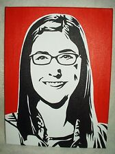 Canvas Painting The Big Bang Theory Amy Orange Art 16x12 inch Acrylic