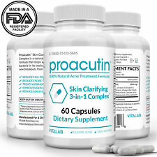 Proacutin Skin Clarifying 3-in-1 Complex Acne Treatment Pills Renewing 60ct