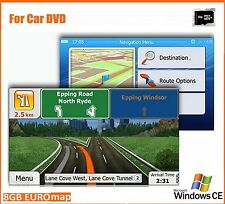 8GB TF Card with lastest 2018 Europe Map for Car DVD Player Navigation
