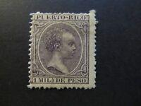 1890/97 - PORTO RICO - KING ALFONSO XIII - SCOTT 80 A8 1M