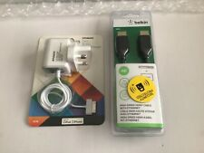 Belkin High Soeed 4K HDMI Cable & Polaroid 1M 30 Pin Mains Charger -New & Sealed