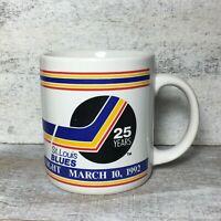 Vintage 90's St. Louis Blues Maxwell House Coffee Mug Night 1992 12oz Hockey NHL