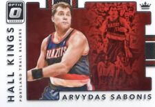 2017-18 PANINI OPTIC INSERT HALL KINGS NO. 28 ARVYDAS SABONIS TRAIL BLAZERS