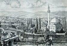 Moldova, Tîrnova....Antique  Engraving  1883