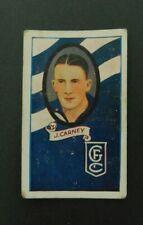 1933 Allen's Footballers Trade Card No 31 J Carney Geelong VFL / AFL Vintage