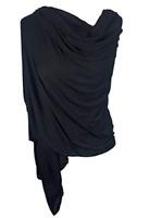 Black Jersey Hijab Plain Wrap Shawl Stole Scarf Soft Stretchy FREE 1ST CLASS