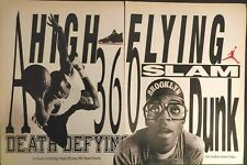 Vintage 1989 NIKE AIR JORDAN IV 4 SPIKE LEE MARS BLACKMON Poster Print Ad RARE