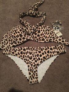 WOMENS Victoras Secret 2 Pc Leopard Bikini Swimsuit