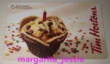 """TIM HORTONS CANADA 2016 GIFT CARD """"BIRTHDAY MUFFIN"""" NO VALUE #6125 NEW FD51901"""