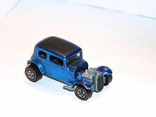 1969 Hot Wheels Redline Classic 32 Ford Vicky PRETTY BLUE YR2 NICE GRILLE SHOWS!