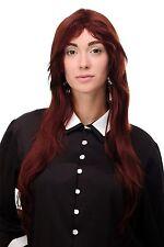 Perruque pour Femme Long Rouge Brun Cuivré Perruque Lisse Raie 75cm 3110-35