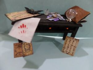 Wild  Witch's filled Sideboard Dollhouse Miniatures 1:12 scale