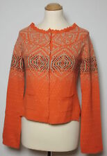 ODD MOLLY Damen Cardigan, Kaschmir & Angora, orange, Gr. 1 ( 36 ), NP.: 209,-