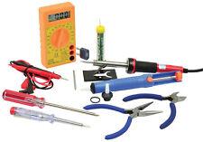 Electrical Tool Set Multimeter Solding Iron Screwdrivers Pliers Voltage Detector