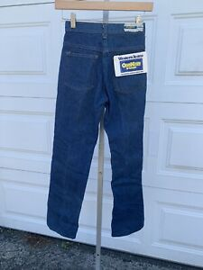 NWT Vintage Oshkosh Cotton Flannel Lined Western Jeans Youth 12S NOS (M)