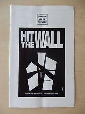 2013 - Barrow Street Theatre Playbill - Hit The Wall - Matthew Greer - Bailey