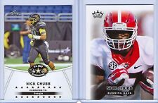 """NICK CHUBB 2014 LEAF """"1ST EVER PRINTED"""" HIGH SCHOOL/COLLEGE 2 CARD ROOKIE LOT!"""
