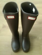 Hunter Original Tall Wellies Ladies Size 6 (EU 39) in Bitter Chocolate