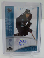 2007-08 Upper Deck Trilogy Ice Scripts Jonathan Cheechoo Auto SJ Sharks