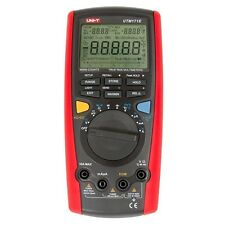 UNI-T UT71E Digital Multimeter Tester USB Auto Data Log AC DC Power Cord Socket