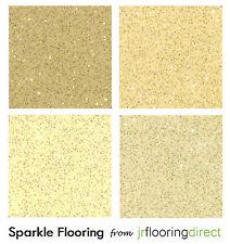 BEIGE / CREAM Sparkly Flooring / Glitter Effect Vinyl Floor. Sparkle Look Lino