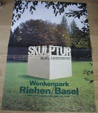 SWISS EXHIBITION POSTER 1980 - SCULPTURE IN 20th CENTURY - WENKELPARK BASEL