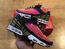 NIKE AIR MAX PLUS III TUNED 3 TN BLACK VIOLET TRAINERS UK 6.5 EUR40.5 CJ9684 003