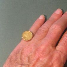 INDIAN HEAD $2.50 DOLLAR 1908 GOLD COIN SET IN 14KT GOLD NUGGET RING SIZE 10.5