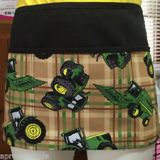 BLACK Tractor,Mowers,Deere 3 POCKET WAITRESS WAIST APRON BAR RESTAURANT SERVER