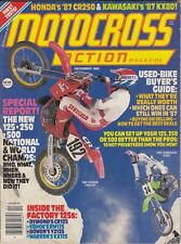 MOTOCROSS ACTION - December 1986 Lance Moorewood / National & World Champs
