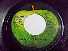 John Lennon Yoko Ono Instant Karma / Who Has Seen The Wind 45 1970 Vinyl Record