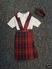 *NIP* 3 pc SCHOOL UNIFORM Dress Jumper Outfit Clothes for Barbie doll PLAID #65