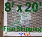 8' x 20' Clear Poly Tarp Room Divider Patio Porch Enclosure Fumigation Curtain