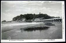 Japan ~ 1900's Enoshima ~ Bridge leading to City Town