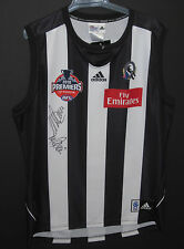 COLLINGWOOD NICK MAXWELL & MICK MALTHOUSE SIGNED JERSEY UNFRAMED+PHOTO PROOF&COA