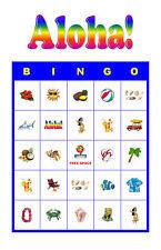 Aloha/Tropical/Luau Birthday Party Game Bingo Cards