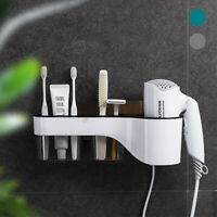 Hair Dryer Rack Storage Organizer Comb Holder Hanger Bathroom Wall Mount