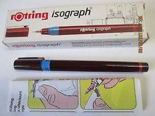 Rotring isograph 70mm, INCHIOSTRO DI CHINA PENNA STILOGRAFICA + confezione originale, istruzioni d'uso.