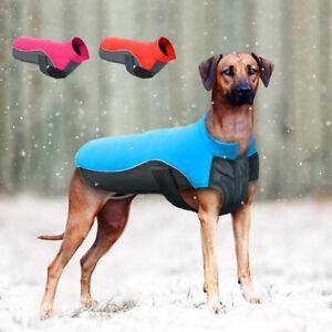 Waterproof Winter Dog Clothes Pet Warm Reflective Fleece Jacket Coat S-5XL Boxer